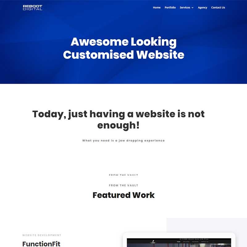 reboot digital website service